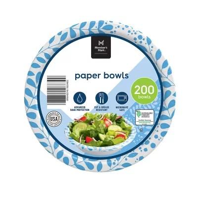member s mark ultra snack dip paper bowls 12 oz 200 ct
