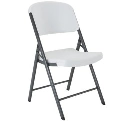 White Plastic Chairs Swivel Chair For Shower Folding Sam S Club Lifetime Commercial Grade Contoured Select Colors