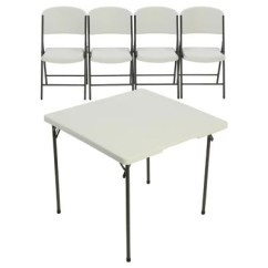 White Table Chairs How Much Do Chair Covers Cost For A Wedding Folding Tables Sam S Club Lifetime 34 Card And 4 Combo