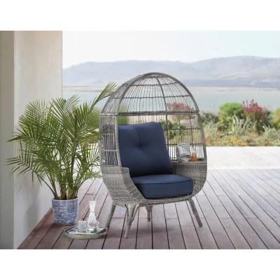 member s mark stationary egg chair grey