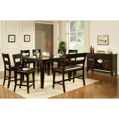 dining room sets 6 chairs design of love chair tables sam s club lauren wells weston counter height set pc