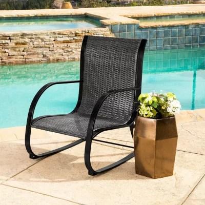 Madison Black Wicker Outdoor Rocking Chair  Sams Club