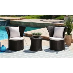 3 Piece Outdoor Table And Chairs Lift Recliner Medicare Furniture Sets For The Patio Sam S Club Ella Bistro Set