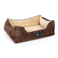 Serta Large Cuddler Pet Bed with Cool Twist Gel Memory ...