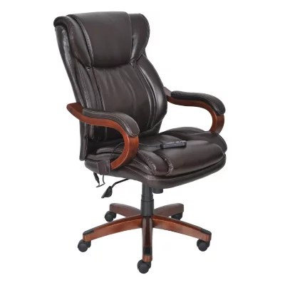 Realspace Fosner High Back Bonded Leather Chair Lane Big Tall Bonded Leather Massage Chair Frye Chocolate On