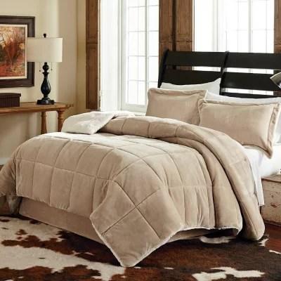 Velvet Plush 3-piece Reversible Comforter Set - King