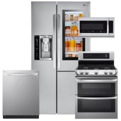 Lg Kitchen Appliance Packages Wooden Toy Kitchens Bundles Sam S Club Lsxs26396s Ldg4313st Lmhm2237st Ldt5665st Stainless Steel Suite Gas