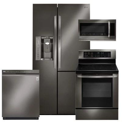kitchen appliance packages stainless steel restoration hardware island bundles sam s club lg black suite lsxs26366d lre3061bd lmhm2237bd ldf5545bd