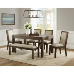 Kitchen Table With Bench And Chairs Rugs Washable Dining Tables Sets Sam S Club Hayden 6 Piece Set