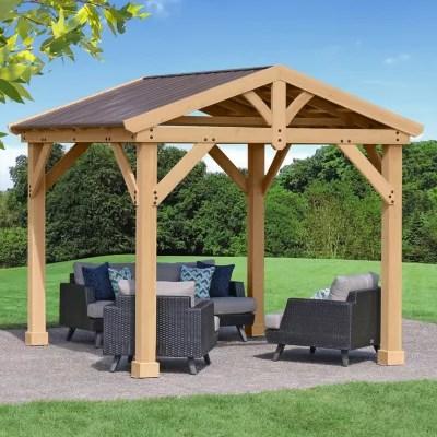 outdoor wooden gazebo pergola kits