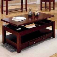 Square Living Room Tables Layout Two Loveseats Sam S Club Logan Cherry Lift Top Cocktail Table