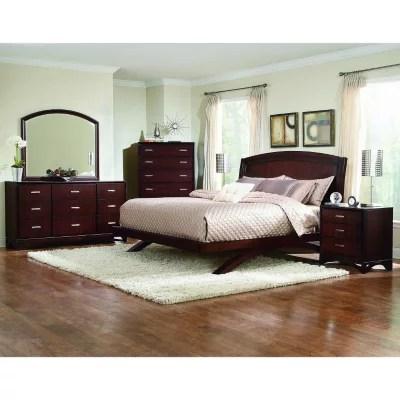 madison avenue cherry bedroom set king 4 pc
