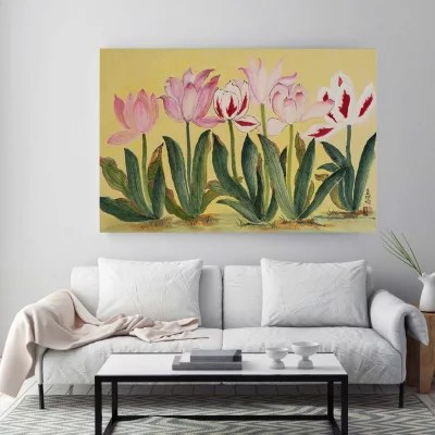 tulips canvas wall art