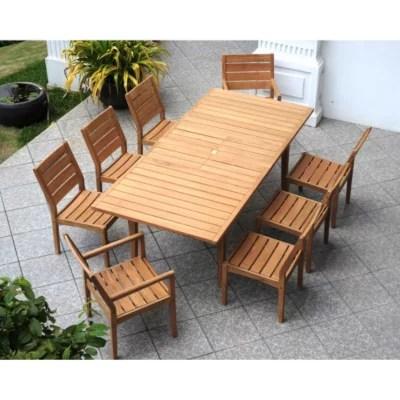 madison teak 9 piece extendable dining set