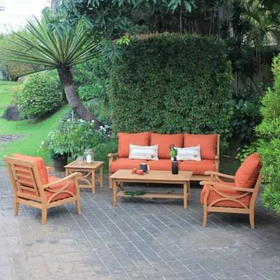 catalina teak 5 piece sofa set various colors