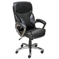 True Innovations - Bonded Leather Manager Chair - Black ...