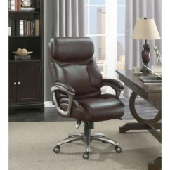 La Z Boy Martin Big And Tall Executive Office Chair Black Swing Dimensions Barcalounger Supports Up Brown