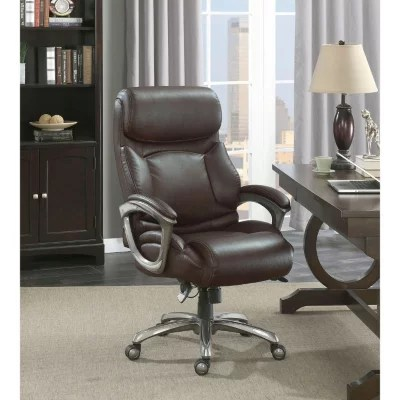 la z boy big tall executive leather office chair black bouncy barcalounger supports up martin brown