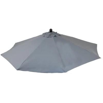 9 ft premium slate grey patio umbrella