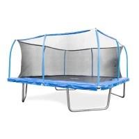 15' Square Trampoline and SteelFlex Safety Enclosure - Sam ...