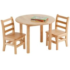 Childrens Table And Chairs Rocking Chair Plans Children S Sets Sam Club 30 Round Hardwood Includes 2 Ladder Back