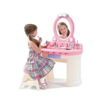 step2 table and chairs with umbrella lucite for sale pretend play - sam's club