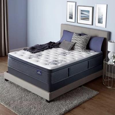 serta perfect sleeper baymist cushion firm pillowtop full mattress set