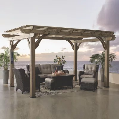 backyard discovery 14 x 10 somerville pergola with electric
