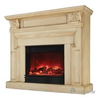 Kristine Electric Fireplace - Antique White - Sam's Club