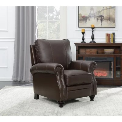recliner chair leather ikea cushion chairs rockers lounges sam s club member mark james press back