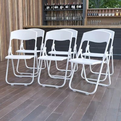 white folding chairs best console gaming chair sam s club
