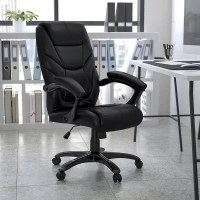 High Back Black Leather Executive Office Chair - Sam's Club