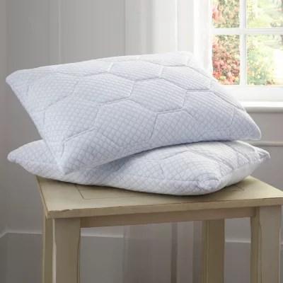 pure rest cooling gel memory foam loft reversible pillow