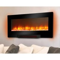 Grand Aspirations Electric Flat Panel Infrared Fireplace ...
