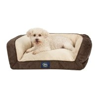 Serta Perfect Sleeper Memory Foam Blend Couch Pet Bed, 25 ...