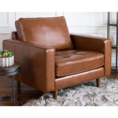 Leather Couch And Chair Gaming Chairs Furniture Sam S Club Benjamin Mid Century Top Grain Armchair