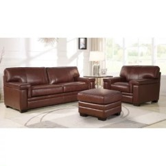 Chocolate Brown Leather Sectional Sofa With 2 Storage Ottomans 4 Piece Sleeper Slipcover Furniture Sam S Club Divani Top Grain Armchair And Ottoman
