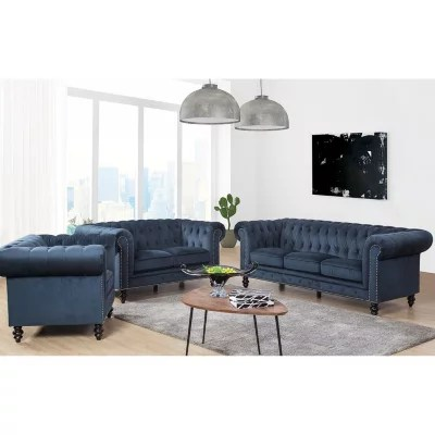sams club living room furniture country style sets sam s davenport velvet 3 piece set assorted colors