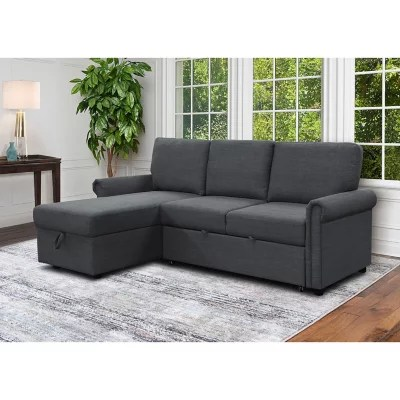 hamilton reversible storage sectional with pullout bed assorted colors