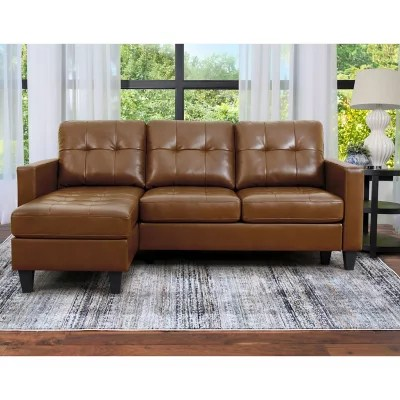 ashbury tufted reversible sectional assorted colors