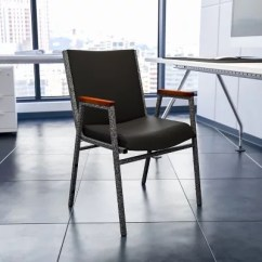 Stackable Chairs For Less Nautica Beach Chair Stacking Sam S Club Hercules Padded Vinyl With Arms Black