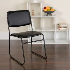 Stackable Chairs For Less Booster Seat Kitchen Chair Ireland Stacking Sam S Club Hercules Vinyl With Sled Base Black