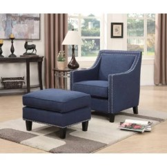 Blue Chair Living Room Modern Wooden Furniture Chairs Sam S Club Emery Accent Ottoman Assorted Colors