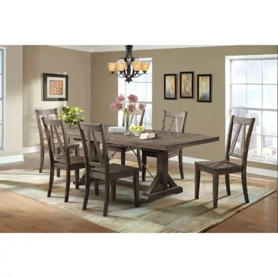 kitchen table set with bench base cabinets dining tables sets sam s club flynn and side chairs 7 piece