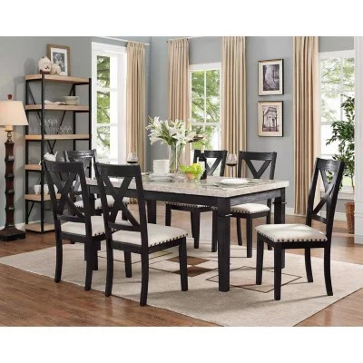 high top table with 6 chairs chair covers at home dining tables sets sam s club bradley 7 piece set x back side