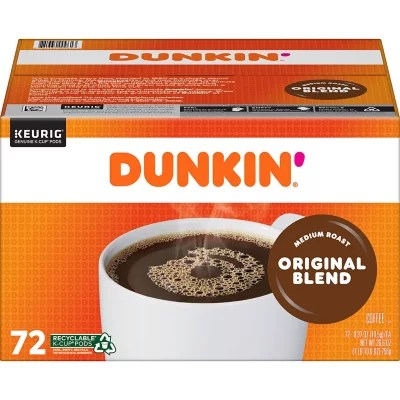 Dunkin39 Donuts Original Blend KCups 72 ct Sam39s Club