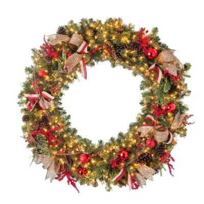 sams club office chairs accent at homesense pre-lit decorated holiday wreath (60