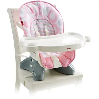 Fisher price spacesaver high chair pink ellipse by fisher price item