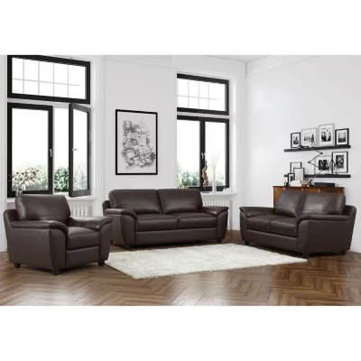 sams club living room furniture small curtain ideas leather sam s mavin top grain sofa loveseat and armchair set