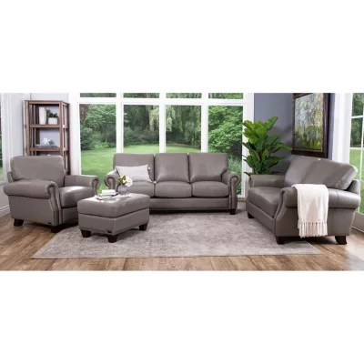 leather sofa sams club cream and wood helena top-grain sofa, loveseat, armchair ...